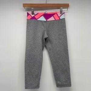 NWOT Ivivva Gray Cropped Leggings Size 12